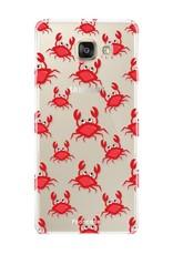 FOONCASE Samsung Galaxy A3 2017 hoesje TPU Soft Case - Back Cover - Crabs / Krabbetjes / Krabben