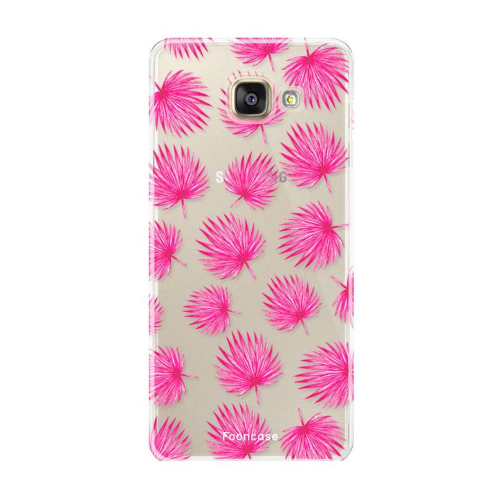 FOONCASE Samsung Galaxy A3 2016 Handyhülle - Rosa Blätter