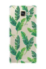 FOONCASE Samsung Galaxy A3 2017 hoesje TPU Soft Case - Back Cover - Banana leaves / Bananen bladeren