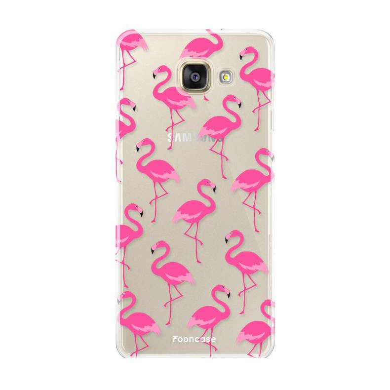 FOONCASE Samsung Galaxy A3 2017 hoesje TPU Soft Case - Back Cover - Flamingo