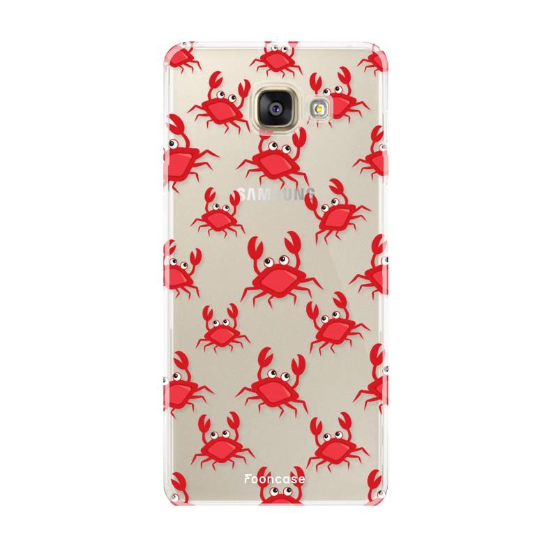 FOONCASE Samsung Galaxy A5 2016 hoesje TPU Soft Case - Back Cover - Crabs / Krabbetjes / Krabben