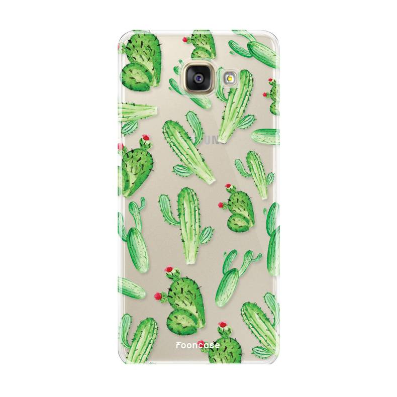 FOONCASE Samsung Galaxy A5 2016 hoesje TPU Soft Case - Back Cover - Cactus