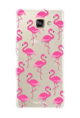 FOONCASE Samsung Galaxy A5 2016 hoesje TPU Soft Case - Back Cover - Flamingo