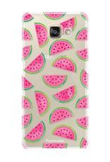 FOONCASE Samsung Galaxy A5 2016 hoesje TPU Soft Case - Back Cover - Watermeloen