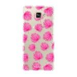 FOONCASE Samsung Galaxy A3 2017 - Pink leaves