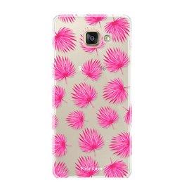 FOONCASE Samsung Galaxy A3 2017 - Foglie rosa