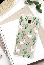 FOONCASE Samsung Galaxy A3 2016 hoesje TPU Soft Case - Back Cover - Alpaca / Lama