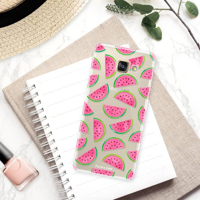 FOONCASE Samsung Galaxy A3 2016 hoesje TPU Soft Case - Back Cover - Watermeloen