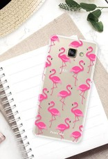 FOONCASE Samsung Galaxy A3 2016 hoesje TPU Soft Case - Back Cover - Flamingo