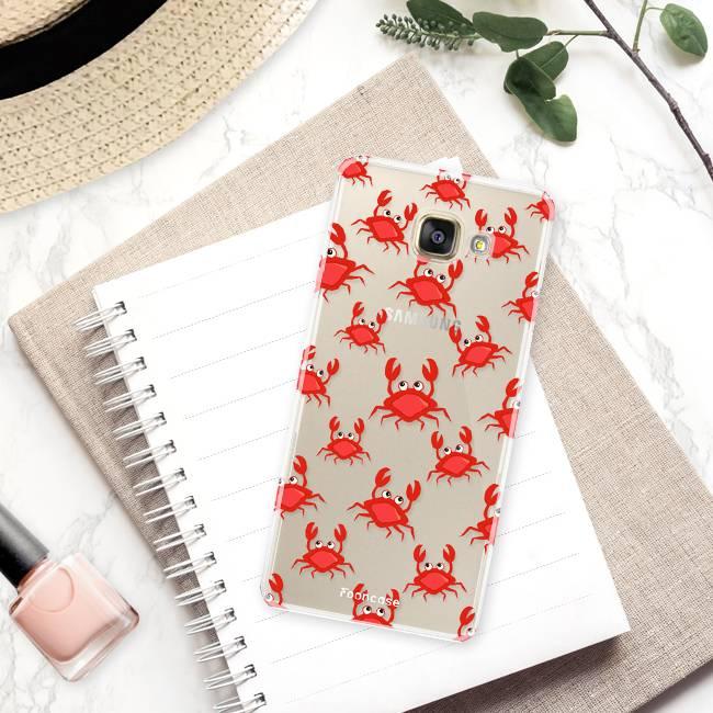 FOONCASE Samsung Galaxy A3 2016 hoesje TPU Soft Case - Back Cover - Crabs / Krabbetjes / Krabben