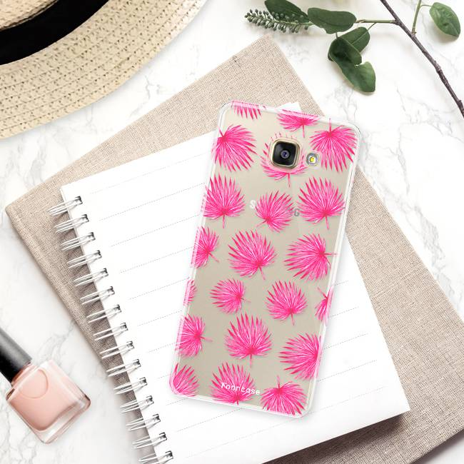 FOONCASE Samsung Galaxy A3 2017 Case - Pink leaves