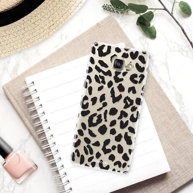 FOONCASE Samsung Galaxy A3 2017 hoesje TPU Soft Case - Back Cover - Luipaard / Leopard print / Leopard print