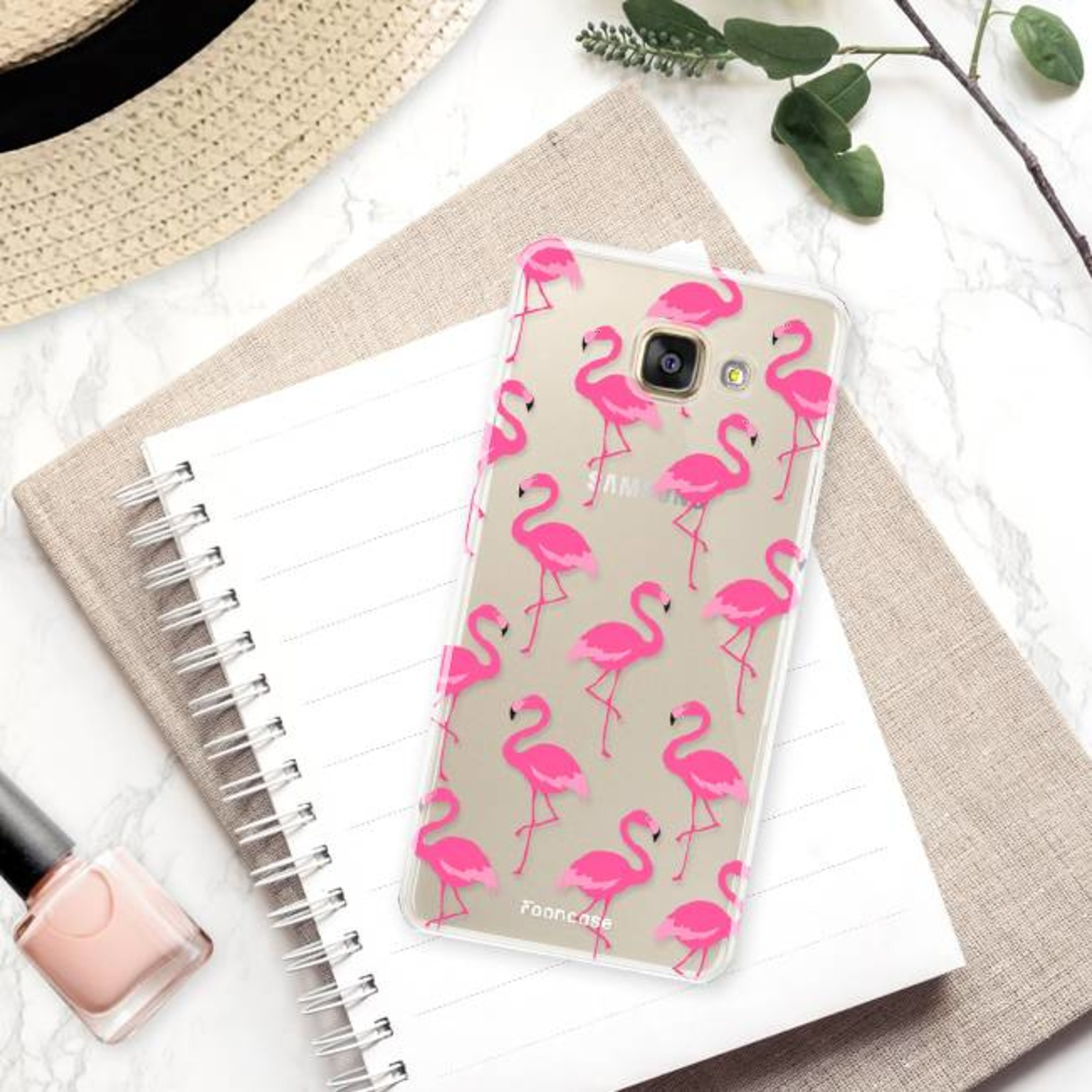 FOONCASE Samsung Galaxy A3 2017 Handyhülle - Flamingo