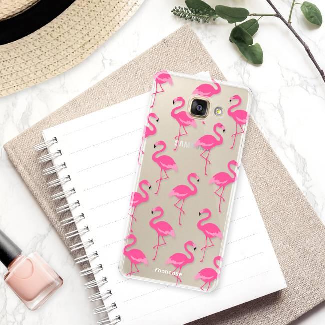 FOONCASE Samsung Galaxy A3 2017 hoesje TPU Soft Case - Back Cover - Flamingo