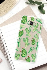 FOONCASE Samsung Galaxy A3 2017 hoesje TPU Soft Case - Back Cover - Cactus