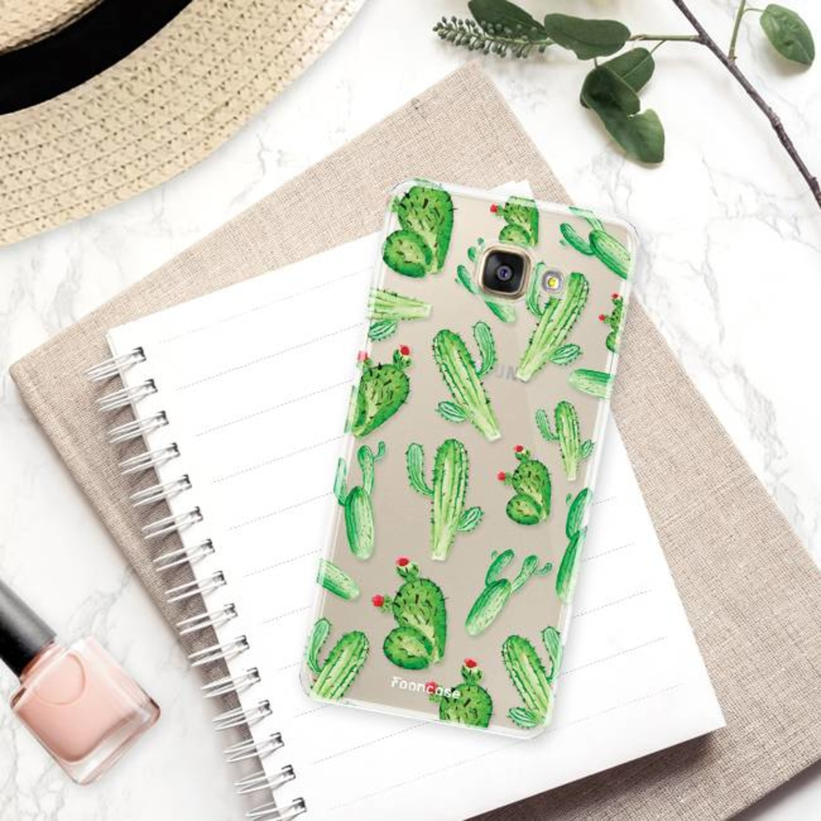 FOONCASE Samsung Galaxy A3 2017 hoesje TPU Soft Case - Back Cover - Cactus