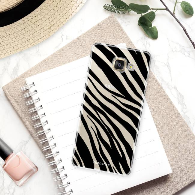 FOONCASE Samsung Galaxy A5 2016 hoesje TPU Soft Case - Back Cover - Zebra print