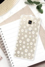 FOONCASE Samsung Galaxy A5 2016 hoesje TPU Soft Case - Back Cover - Madeliefjes