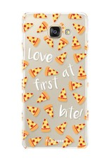FOONCASE Samsung Galaxy A5 2017 hoesje TPU Soft Case - Back Cover - Pizza / Food