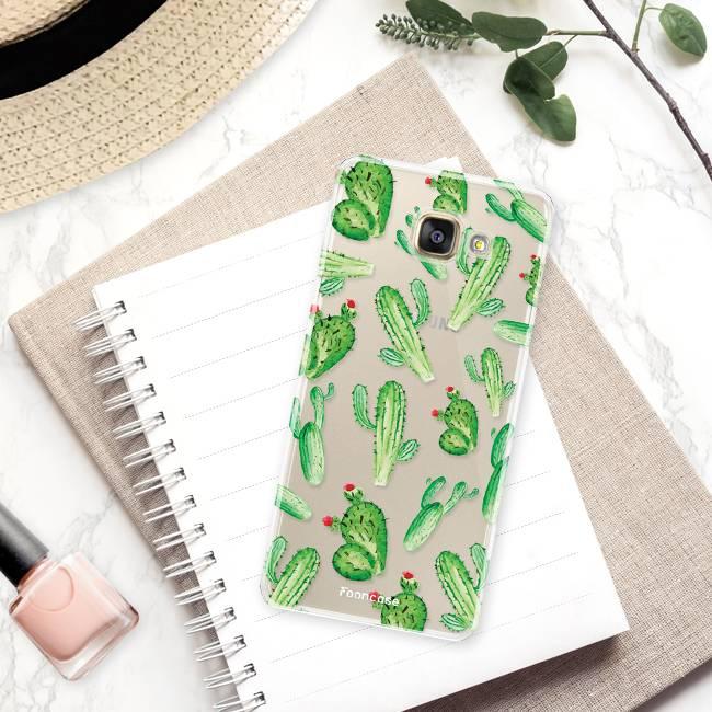 FOONCASE Samsung Galaxy A5 2017 hoesje TPU Soft Case - Back Cover - Cactus
