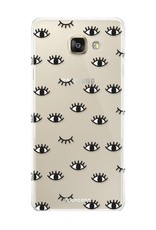 FOONCASE Samsung Galaxy A5 2017 hoesje TPU Soft Case - Back Cover - Eyes / Ogen