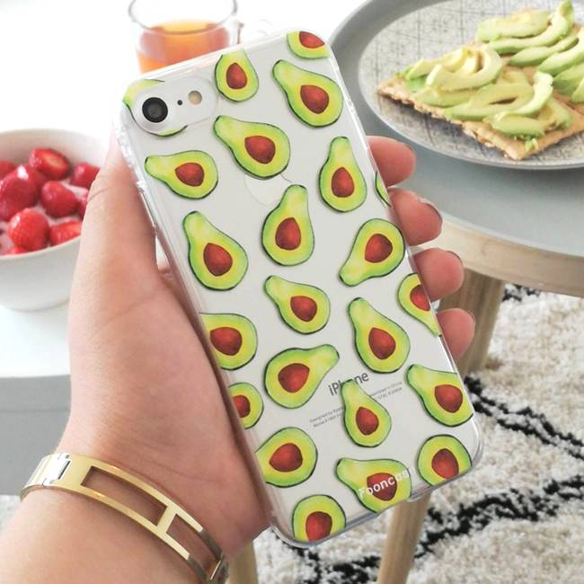 FOONCASE Samsung Galaxy S6 Edge hoesje TPU Soft Case - Back Cover -  Avocado