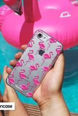 FOONCASE Samsung Galaxy S6 hoesje TPU Soft Case - Back Cover - Flamingo