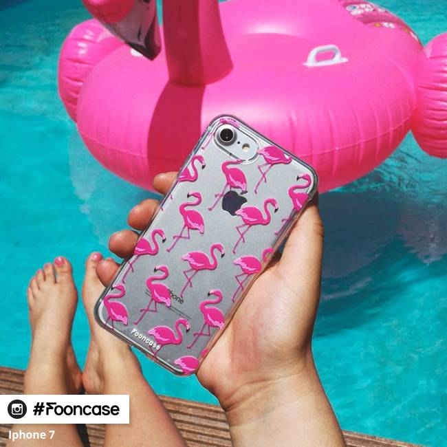 FOONCASE Samsung Galaxy A3 2016 hoesje TPU Soft Case - Back Cover - Flamingo