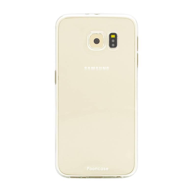 FOONCASE Samsung Galaxy S6 Edge hoesje TPU Soft Case - Back Cover - Transparant / Doorzichtig