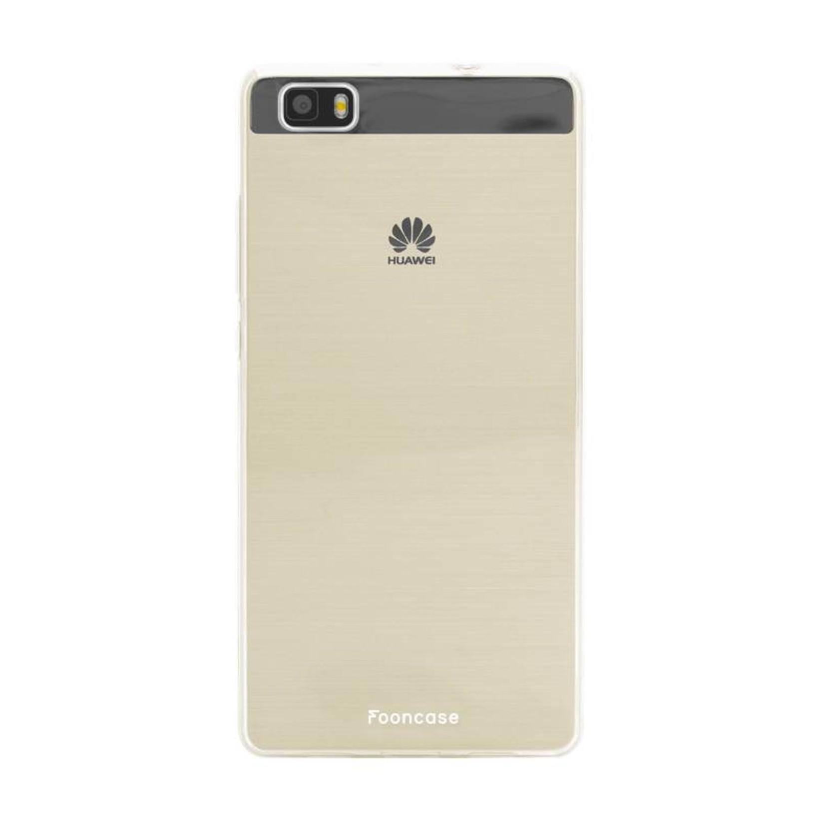 FOONCASE Huawei P30 hoesje TPU Soft Case - Back Cover - Transparant / Doorzichtig