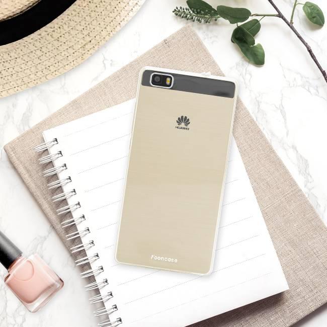 FOONCASE Huawei P8 Lite 2016 hoesje TPU Soft Case - Back Cover - Transparant / Doorzichtig