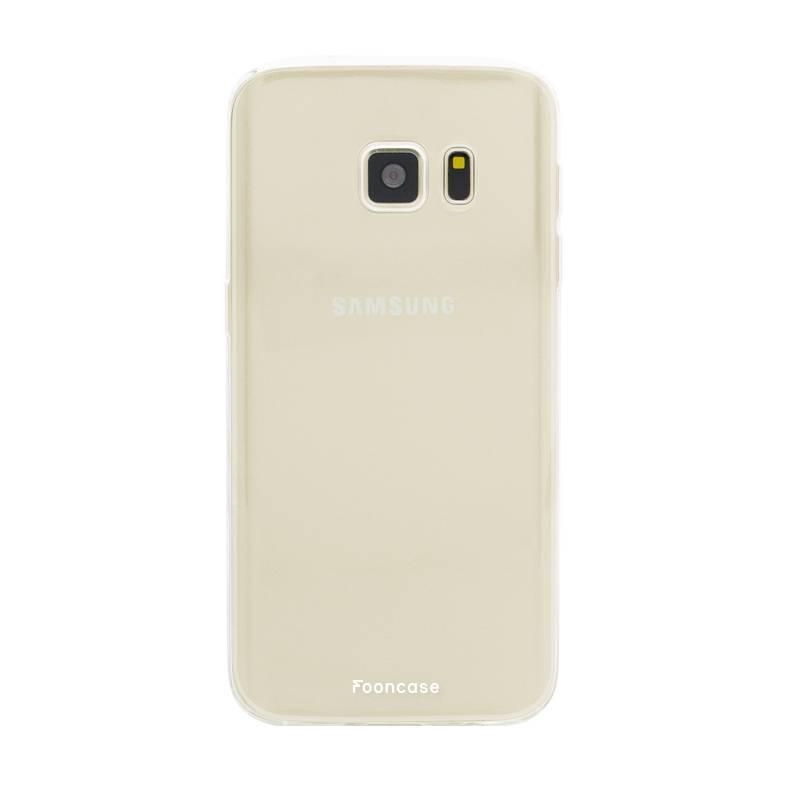 FOONCASE Samsung Galaxy S7 hoesje TPU Soft Case - Back Cover - Transparant / Doorzichtig