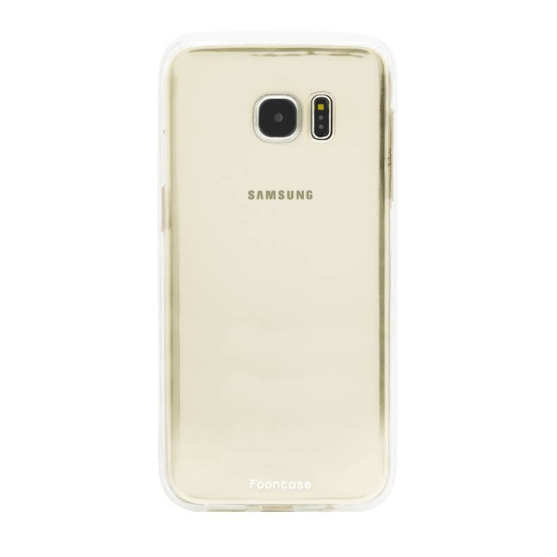 FOONCASE Samsung Galaxy S7 Edge hoesje TPU Soft Case - Back Cover - Transparant / Doorzichtig