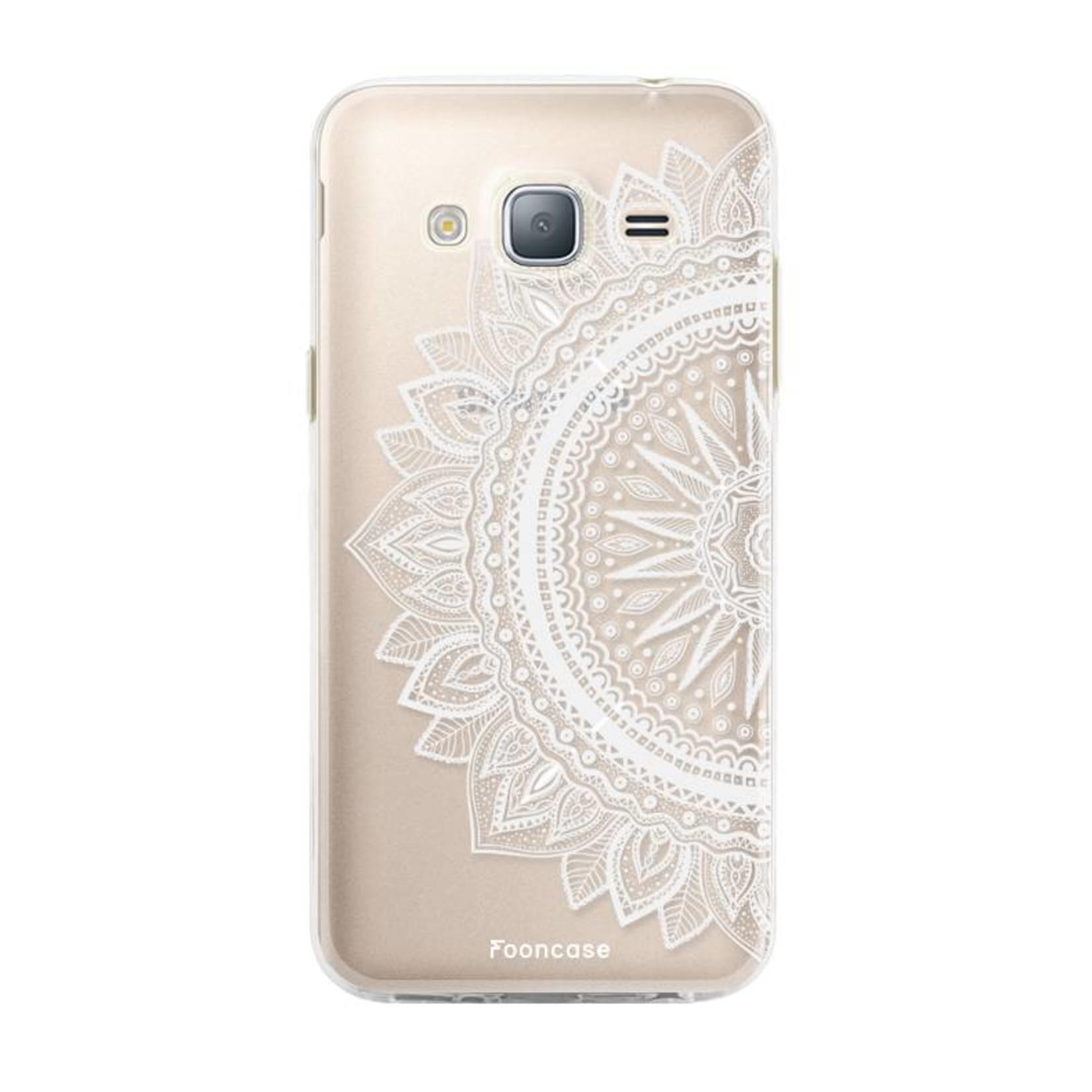 FOONCASE Samsung Galaxy J3 2016 hoesje TPU Soft Case - Back Cover - Mandala / Ibiza