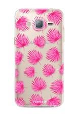 FOONCASE Samsung Galaxy J3 2016 - Rosa Blätter
