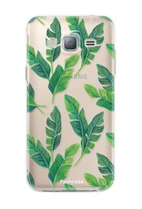 FOONCASE Samsung Galaxy J3 2016 hoesje TPU Soft Case - Back Cover - Banana leaves / Bananen bladeren