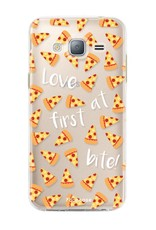 FOONCASE Samsung Galaxy J3 2016 hoesje TPU Soft Case - Back Cover - Pizza / Food