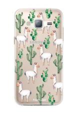 FOONCASE Samsung Galaxy J3 2016 hoesje TPU Soft Case - Back Cover - Alpaca / Lama