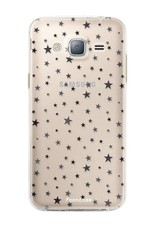 FOONCASE Samsung Galaxy J3 2016 hoesje TPU Soft Case - Back Cover - Stars