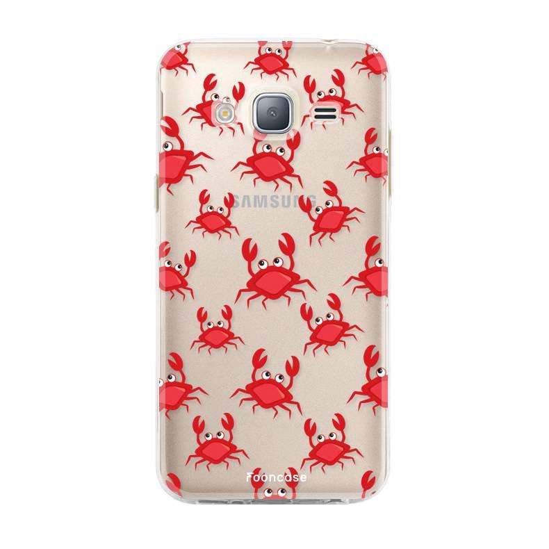 FOONCASE Samsung Galaxy J3 2016 hoesje TPU Soft Case - Back Cover - Crabs / Krabbetjes / Krabben