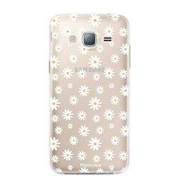 FOONCASE Samsung Galaxy J3 2016 - Gänseblümchen