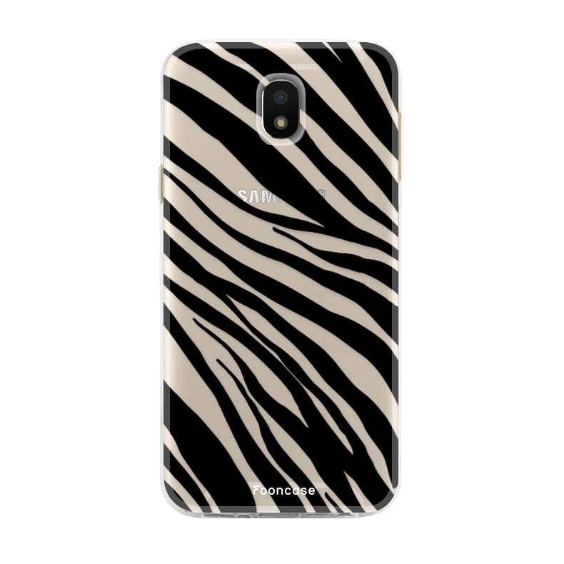 FOONCASE Samsung Galaxy J5 2017 hoesje TPU Soft Case - Back Cover - Zebra print