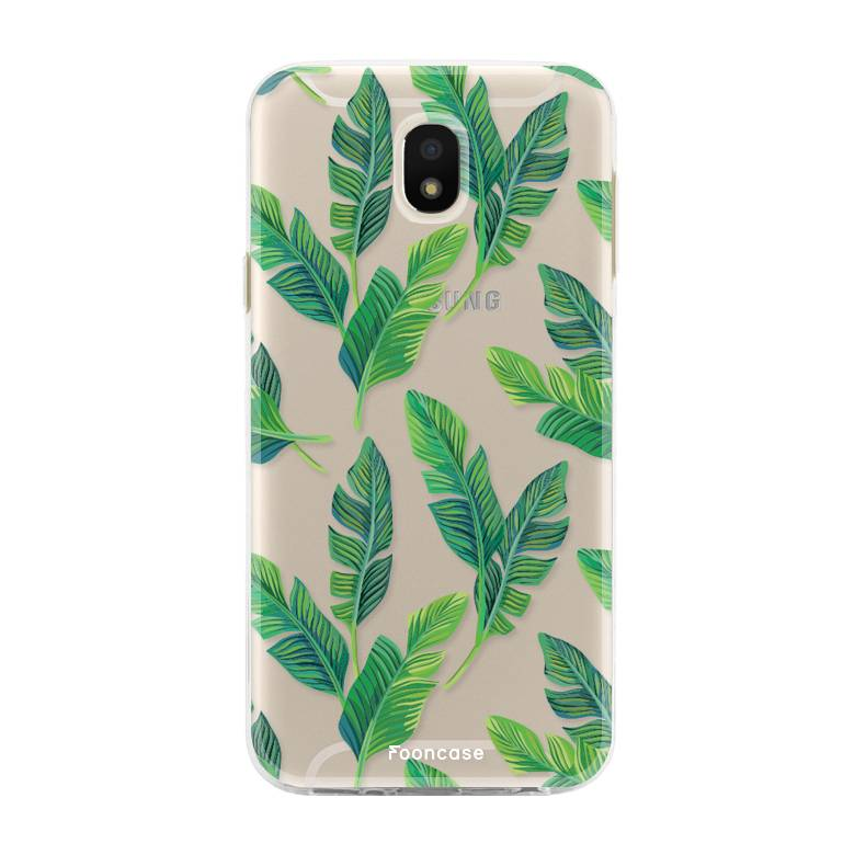 FOONCASE Samsung Galaxy J5 2017 hoesje TPU Soft Case - Back Cover - Banana leaves / Bananen bladeren