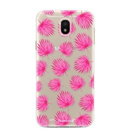 FOONCASE Samsung Galaxy J5 2017 - Pink leaves