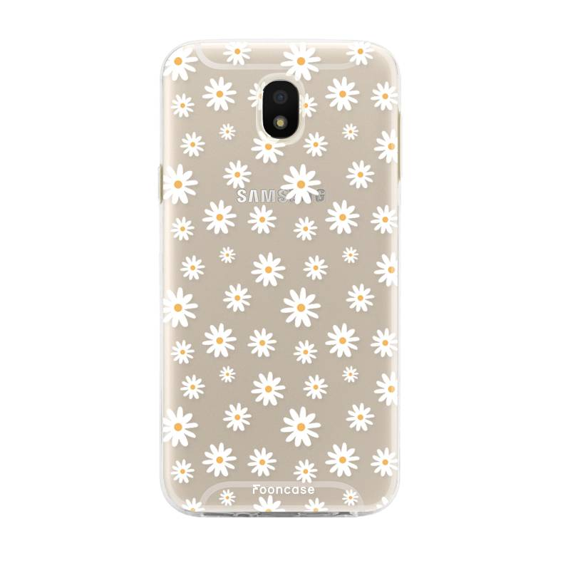 FOONCASE Samsung Galaxy J5 2017 hoesje TPU Soft Case - Back Cover - Madeliefjes