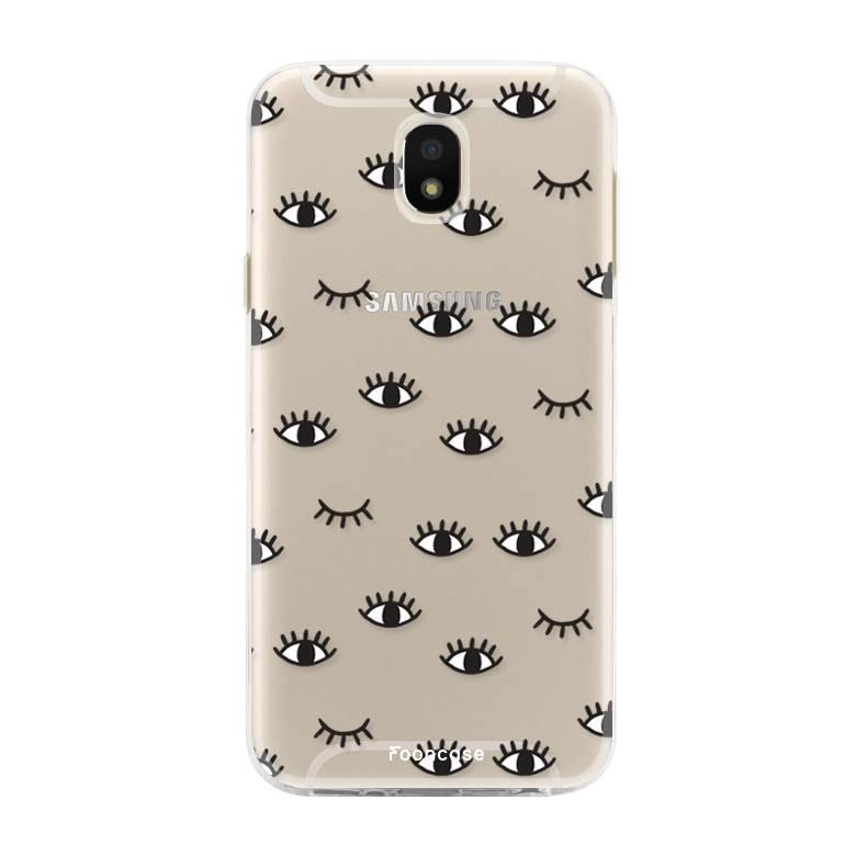 FOONCASE Samsung Galaxy J5 2017 hoesje TPU Soft Case - Back Cover - Eyes / Ogen