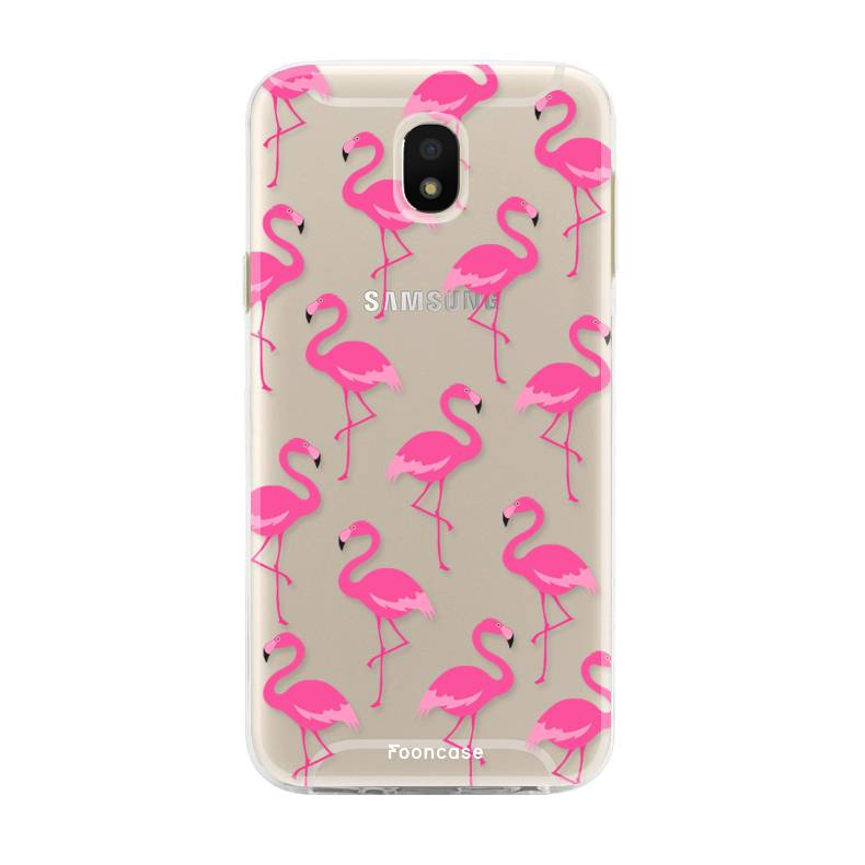 FOONCASE Samsung Galaxy J5 2017 hoesje TPU Soft Case - Back Cover - Flamingo