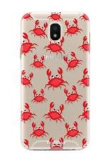 FOONCASE Samsung Galaxy J5 2017 hoesje TPU Soft Case - Back Cover - Crabs / Krabbetjes / Krabben