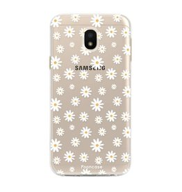 FOONCASE Samsung Galaxy J3 2017 - Madeliefjes