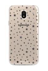 FOONCASE Samsung Galaxy J3 2017 hoesje TPU Soft Case - Back Cover - Stars